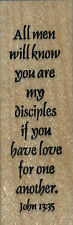 """mounted  rubber stamps   All men will know     wood mount 1"""" X 3"""""""