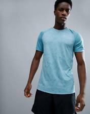 Nikr Men's Dry Breathe Miler Running Shirt Xl Omega Blue Gym School Casual New