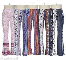 Womens Flared Legging Palazzo Bell Bottom Boho Pants Stretch High Waist Trousers