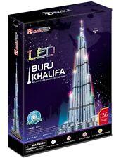 Puzzle Cubic Fun 136 Teile - Puzzle 3D mit LED - Burj Khalifa, Du... (50701)
