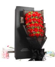 Je T'aime Preserved Fresh Gypsophila + 33 Stems Red Roses Immortal Soap Flower