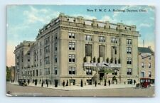 Postcard OH Dayton New YWCA Building Old Cars E9