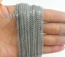 GNAYY Lot 10m stainless steel Thin 1.5mm Rolo chain Jewelry Finding Chain Silver