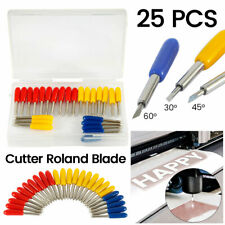 25Pcs 30/45/60 Degree Blades Cricut Cutting Plotter For Roland Vinyl Cutter Set