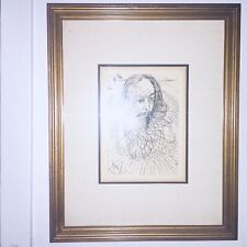 Salvador Dali Original Signed Etching Cervantes Collectors Guild Certificate COA