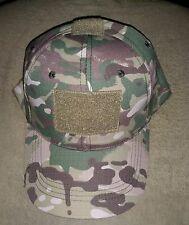 *** BALL CAP MULTICAM - ADULTS SIZES *** PATCH FRONT ARMY CAMOUFLAGE CAP