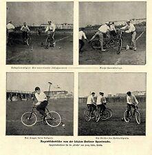 Radpolo und Radballspiele auf der Berliner Sportwoche * Bilddokumente von 1901