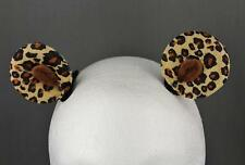 Brown cheetah leopard clip on cat kitten bear pony ears kawaii cosplay bronies