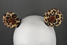 Brown cheetah leopard clip on cat kitten bear pony ears kawaii cosplay bronies