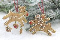 Gisela Graham Navidad Resina Hombre De Jengibre Reno Decoración