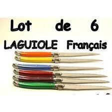 LAGUIOLE 6 COUTEAUX DE TABLE fabrication francaise 6 COULEURS