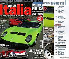 Auto ITALIA magazine Nov' 2005 - ALFA ROMEO TIPO 33/3 ALFAS Exotic Sports Racers