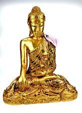 Original Thai Buddha Gold m. Spiegeln Ausfuhr Zertifikat Bhumisparsa-mudra edel