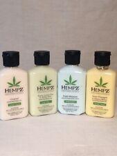 HEMPZ 4 Bottles Lotion 2.25 Oz GREEN TEA SWEET PINEAPPLE TRIPLE MOIST ORIGINAL