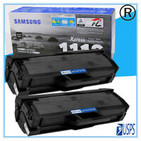 2 Bk Toner Cartridge MLT-D111S MLTD111S For Samsung 111S Xpress M2020W M2070FW