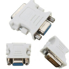 15 Pin VGA Female to 24+1 Pin DVI-D Male Adapter Converter LCD PC Laptop White s