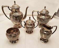 Sterling Silver Victorian Style Tea and Coffee Service