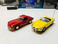 1/43 Vanguards 2x triumph spitfires mk2 red& mk3 yellow mint/boxed freepost uk