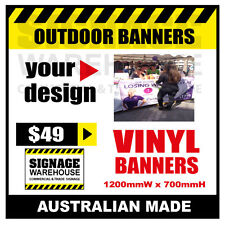 Custom Outdoor Vinyl Banner Sign  - 1200mmW x 700mmH Signage Warehouse