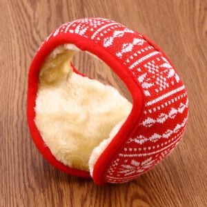 Unisex Knitted Foldable EarMuffs Fleece Lined Warm Winter Outdoor EarMuffs(Black