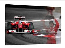 Fernando Alonso - 30x20 Inch Canvas Ferrari Formula One Picture F1 Monza Print