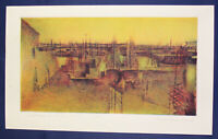 """Radierung von Wolfgang Beier """"Sassnitzer Hafen"""" 1983 Malerei Kunst Zeichnung sf"""