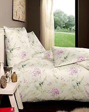 Estella Bettwäsche Freia Mako-interlock-jersey 155x220 bügelfrei beige Blumen