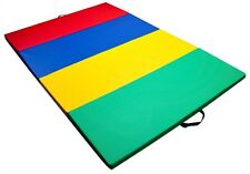 Mixed Rainbow Children's and Gymnastics 4' x 6' Tumbling Mat Exercise Gym Tools