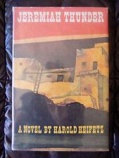 Jeremiah Thunder: A Novel by Harold Heifetz, SIGNED, 1968, 1st, HC, Western