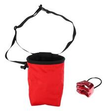 Rock Climbing Bouldering Chalk Bag with Atc Belay Rappel Device Equip