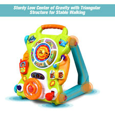 3 in1 Sit to Stand Learning Walker Kids Activity Center Toddlers Musical Play