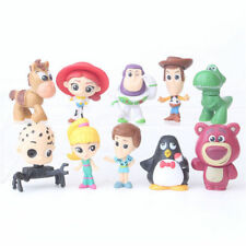 10pcs Disney Toy Story Figures Cake Topper Toy Woody Jessie Buzz Lighter 5-6CM #
