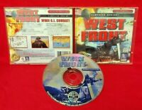 West Front WWII G I Combat PC Game Disc, Case Near Mint Disc Windows 95/98  CD