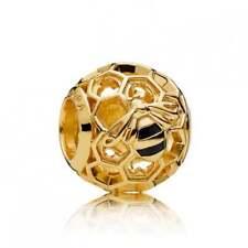 Genuine Pandora Sterling Silver Gold Plated Honeybee Charm 767023EN16
