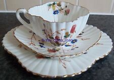pre SHELLEY WILEMAN china ALEXANDRA CUP TRIO polychrome MEADOW FLOWERS 3707 patt