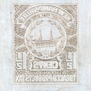 American Bank Note Company: New Hampshire Printing Plate (Ship)