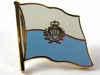 San Marino Flaggen Pin Anstecker,1,5 cm,Neu mit Druckverschluss