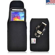 Samsung Galaxy S5 Vertical Nylon Pouch Holster Metal Clip Fits Otterbox Case