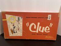 Vintage 1956 CLUE Detective Board Game Parker Brothers - See Details
