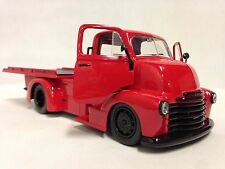 "1952 Chevy COE Flatbed Truck, 8"" Diecast 1:24 Collectible, Jada Toys GROSSY RED"
