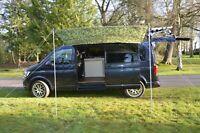 VW Camper Van Sun Canopy Awning Van Conversion Motorhome 2.4m x 2.4m Camo 2 pole