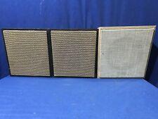 "Lot of 3 Quam Rauland 8"" Speakers C5 w/Wood Cabinets PA System Jukebox FREE SHIP"