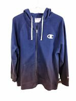 Champion Women's Plus Size Heritage Zip Hoodie Athletic Navy 1X New With Tags