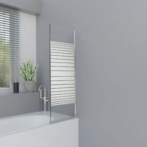 Badewannenaufsatz 1 oder 2-teilig Duschwand Duschabtrennung NANO Glas ESG