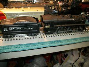 MARX 999 STEAM TRAIN AND TENDER,  0 SCALE ,RUNS GOOD