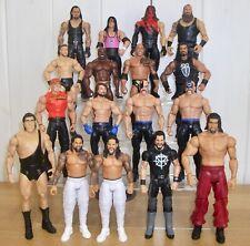 Set of 4 WWE wrestling figures inc. Roman Reigns, The Rock & Braun Strowman