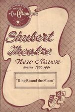 """Lucile Watson """"RING ROUND THE MOON"""" Oscar Karlweis 1950 FLOP Tryout Playbill"""