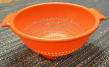 Vintage Federal Housewares Villaware Orange Colander Strainer Kitchenware