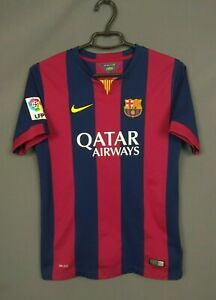 Barcelona Jersey 2014 2015 Home Kids Boys 13-15 Shirt Nike 610792-422 ig93