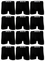 4 | 10 | 20 Boxershorts Baumwolle Herren Retro Shorts Schwarz Unterhosen MEN